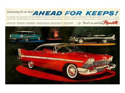 Plymouth - Ahead for Keeps!--Art Print