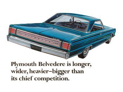 Plymouth Belvedere is Longer…--Art Print