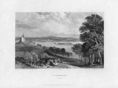 Plymouth, Devon, 19th Century-William Finden-Giclee Print