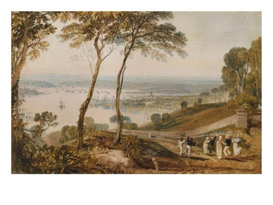 Plymouth Dock, from Near Mount Edgecumbe, 19th Century-J^ M^ W^ Turner-Giclee Print
