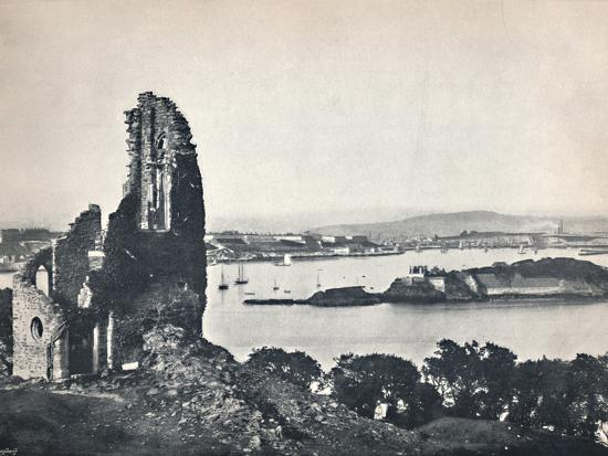 'Plymouth - Drake's Island, from Mount Edgcumbe', 1895-Unknown-Photographic Print