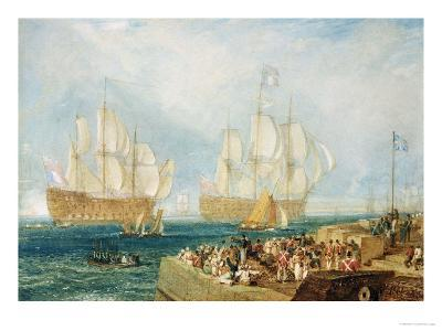 Plymouth Harbour: Towing In-J^ M^ W^ Turner-Giclee Print