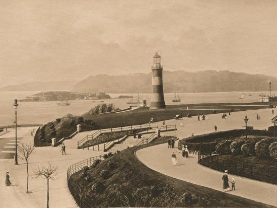 'Plymouth Hoe and Sound and Mouth of the Tamar', 1902-Unknown-Photographic Print