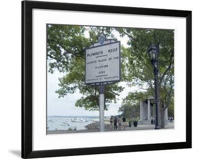 Plymouth Rock, Plymouth, Massachusetts-Natalie Tepper-Framed Photo