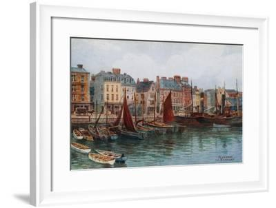 Plymouth, the Barbican-Alfred Robert Quinton-Framed Giclee Print
