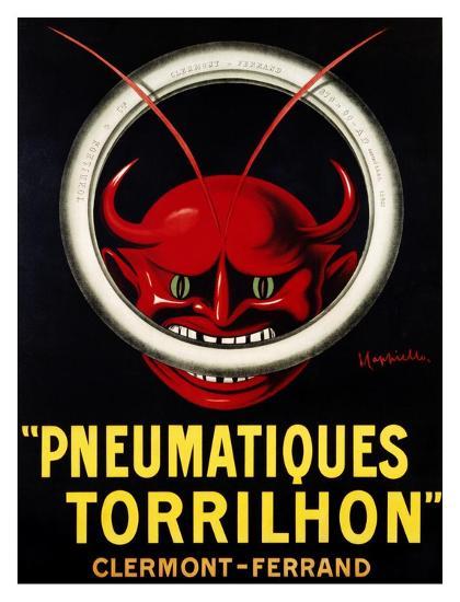 Pneumatiques Torrilhon-Leonetto Cappiello-Art Print