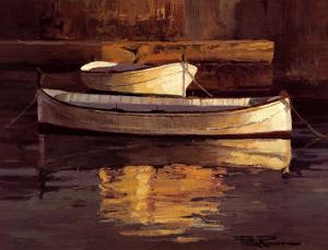 Barcas al Atardecer by Poch Romeu