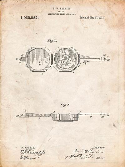 Pocket Transit Compass 1919 Patent-Cole Borders-Art Print