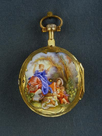 Pocket Watch: La Bascule (The Seesaw), Third Quarter of the 18th Century; Geneva-Jean-Honor? Fragonard-Giclee Print