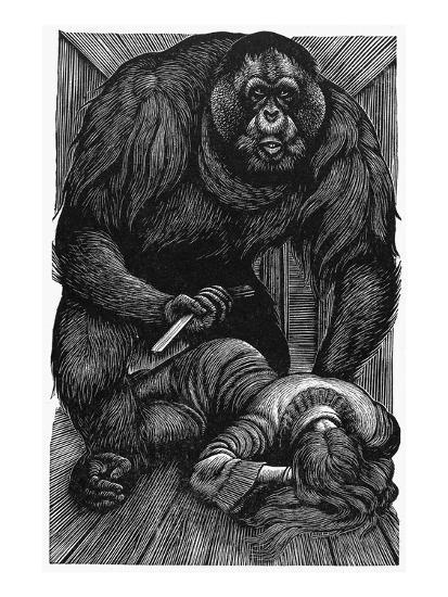 Poe: Rue Morgue, 1841-Fritz Eichenberg-Giclee Print