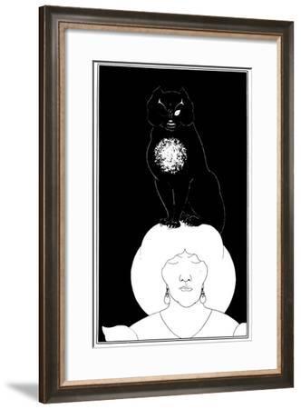Poe: The Black Cat, 1894-Aubrey Beardsley-Framed Giclee Print