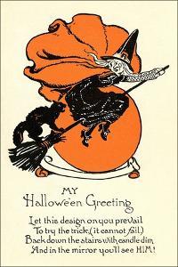 Poem, Witch on Broom