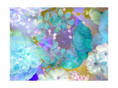 Poeny Abstract Blue-Alaya Gadeh-Art Print