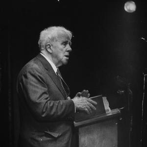Poet Robert Frost Reading His Poetry