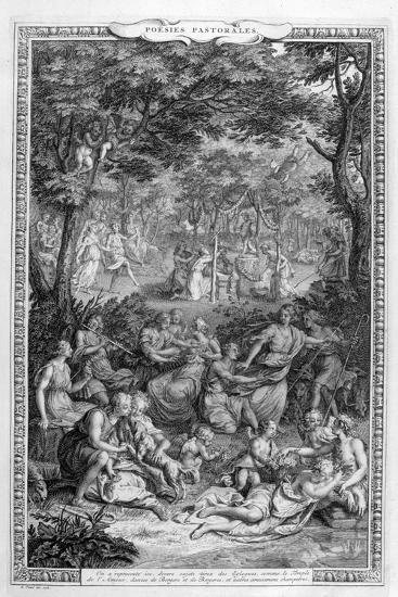 Poetry Pastorales, 1728-1729-Bernard Picart-Giclee Print