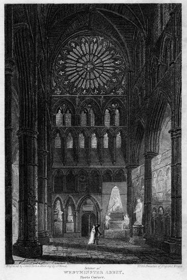 Poets' Corner, Westminster Abbey, London, 1815- Lewis-Giclee Print
