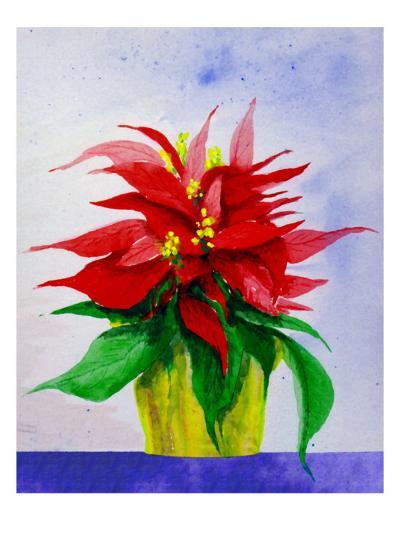 Poinsetta Flower in Pot-Rich LaPenna-Giclee Print