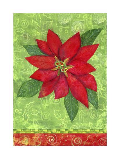 Poinsettia Collage Flag-Elizabeth Claire-Giclee Print