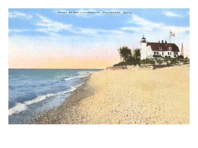Point Betsie Lighthouse, Frankfort, Michigan--Art Print
