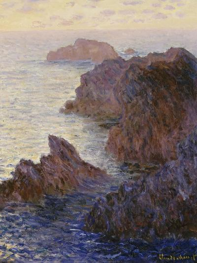 Point De Rochers, Port-Goulphar-Claude Monet-Giclee Print