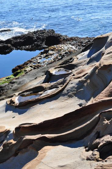 Point Lobos Rock Carvings-CaliPixs-Photographic Print