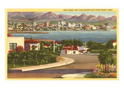 Point Loma Looking Towards San Diego, California--Art Print