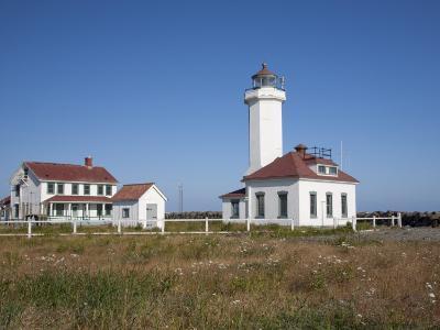 Point Wilson Lighthouse, Port Townsend, Washington, USA-Jamie & Judy Wild-Photographic Print