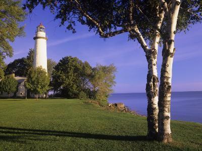 Pointe Auxbarques Lighthouse, Lake Huron, Pointe Auxbarques, Michigan, USA-Adam Jones-Photographic Print