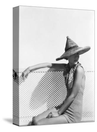 Pointed Mexican Straw Hat with Knob on Top by Agnes