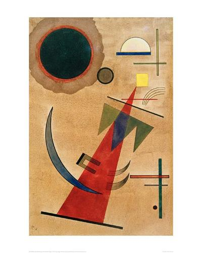 Pointed Red Shape, 1925-Wassily Kandinsky-Giclee Print