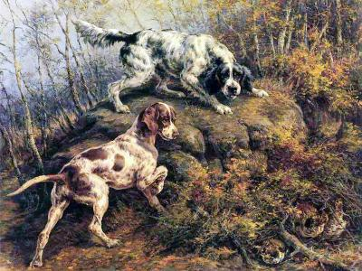 Pointer, Setter and Grouse-Edmund Henry Osthaus-Giclee Print