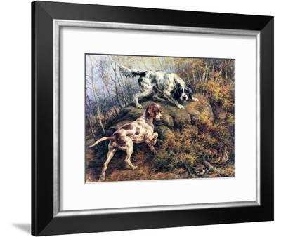Pointer, Setter and Grouse-Edmund Henry Osthaus-Framed Giclee Print
