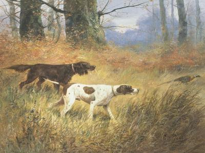 Pointers in a Landscape-Eugene Petit-Giclee Print