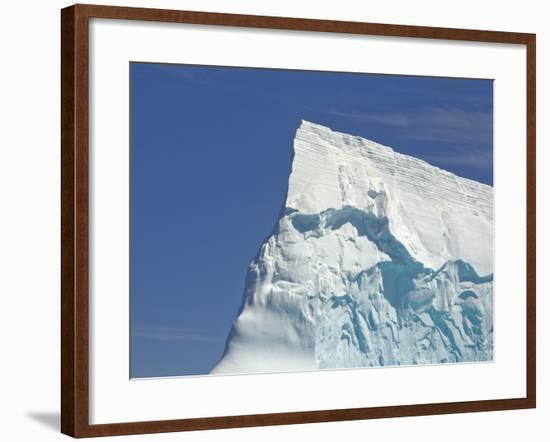 Pointy Blue Iceberg Sculpted by Waves-John Eastcott & Yva Momatiuk-Framed Photographic Print