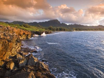 Poipu Beach, Cliffs, Kauai, Hawaii-John Elk III-Photographic Print