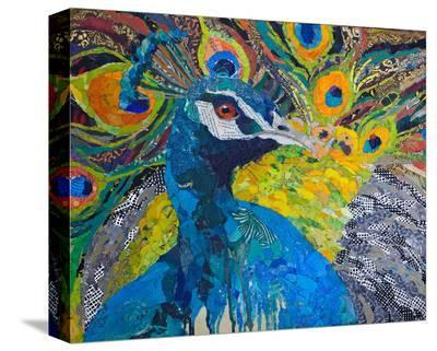 Poised Peacock #1--Stretched Canvas Print