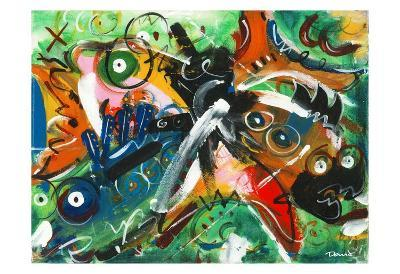 Poissons musiciens-Pierre David-Art Print