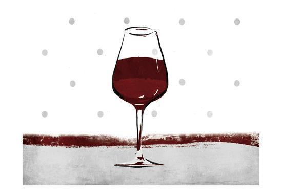 Pokadot Wine-Jace Grey-Art Print