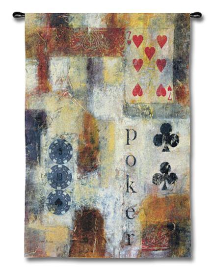 Poker Abstract-Jane Bellows-Wall Tapestry