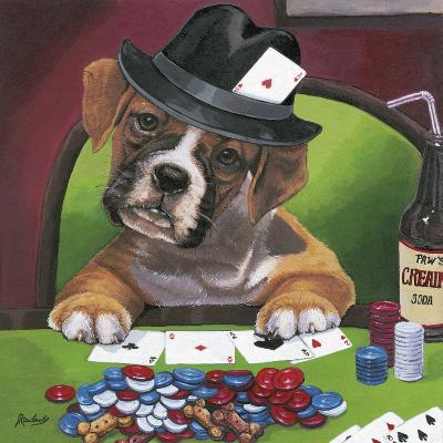 Poker Dogs 2-Jenny Newland-Giclee Print