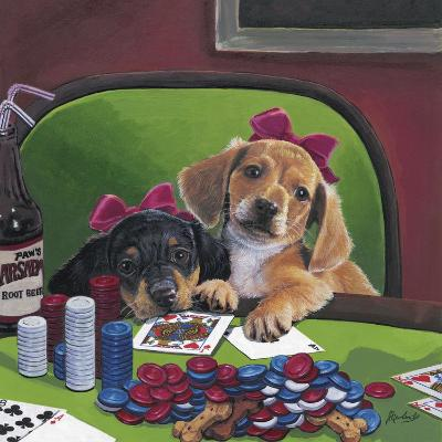 Poker Dogs 3-Jenny Newland-Giclee Print