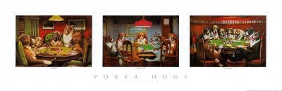 Poker Dogs-Cassius Marcellus Coolidge-Art Print