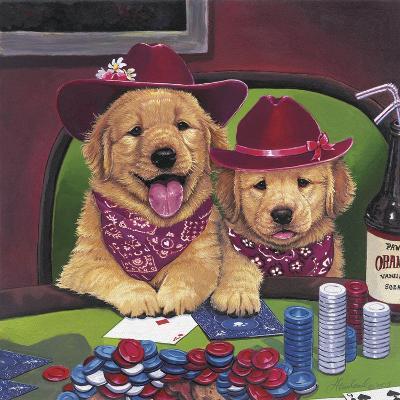 Poker Dogs-Jenny Newland-Giclee Print