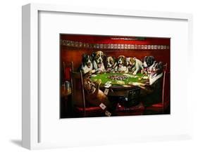 Poker Sympathy-Cassius Marcellus Coolidge-Framed Art Print