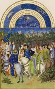 May Celebrating May Day Near the Town of Riom in the Auvergne by Pol De Limbourg