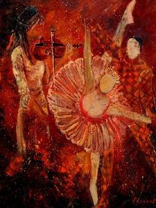 Ballerina And Arlequino by Pol Ledent