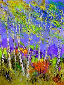 Birch Trees In Spring by Pol Ledent