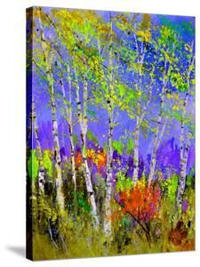 Birch Trees In Spring by Pol Ledent