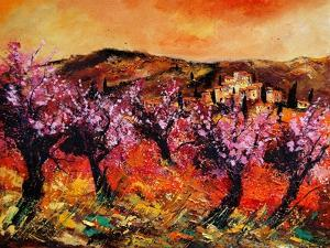 Blooming Cherry Trees In Provence by Pol Ledent