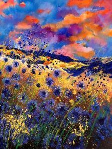 Blue Cornflowers 56 by Pol Ledent
